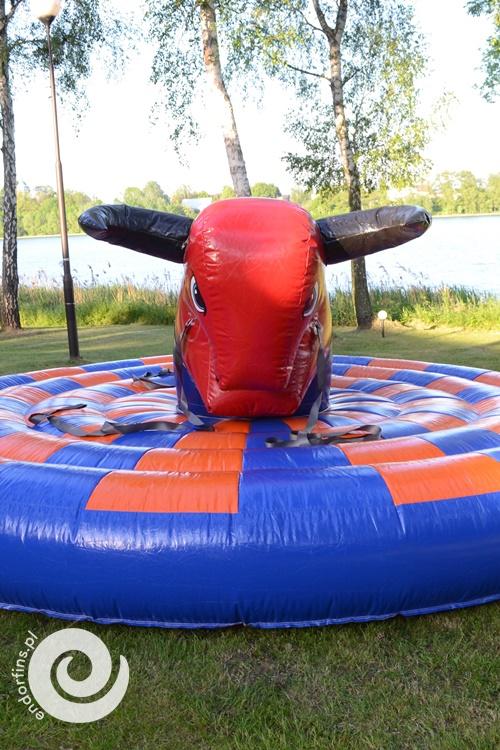dmuchany byk rodeo - wynajem konin łódź