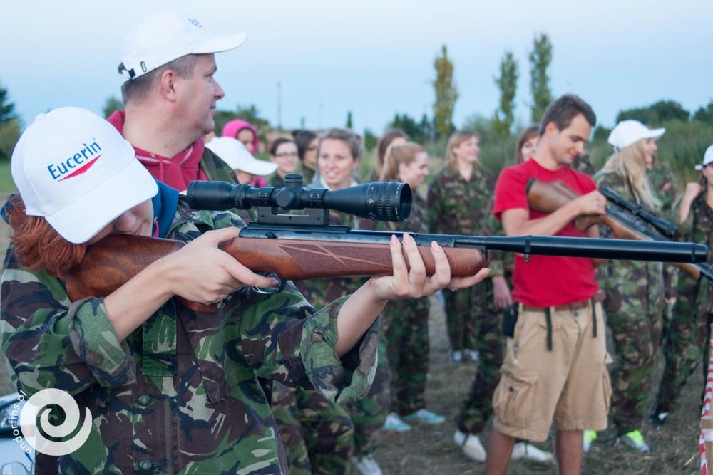 strzelnica na evencie firmowych
