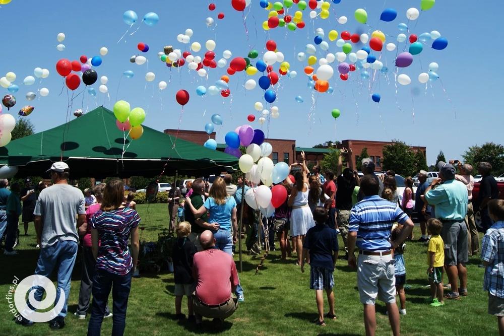 siatka na balony z helem - wypuszczanie balonów do nieba